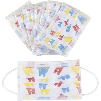 50-Pieces Kleager Kids Medical Disposable Filter pleated Face Mask