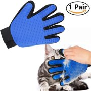 1Pair Pet Grooming Depilatory Gloves Dog Cat Small Animals Massage Tool Deshedding Brush Glove Gentle and Efficient Grooming Pet Bath Clean Petting Gloves
