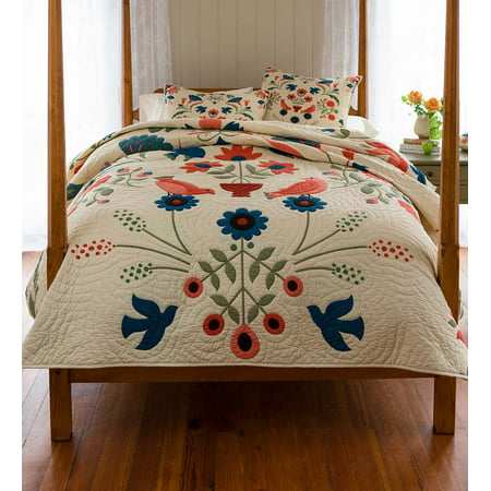 Ansley Folk Art Quilt Set in King Size - Folk Art Halloween Quilts
