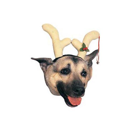 Reindeer Dog Antlers Halloween Pet Costume](Dog The Bounty Hunter Halloween Costumes)