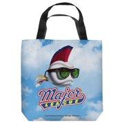 Major League League Logo Tote Bag White 9X9