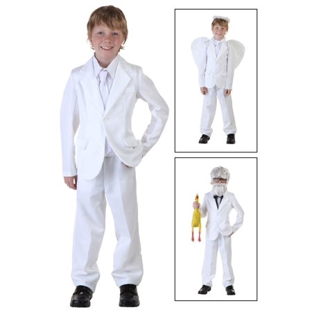 Child White Suit Costume](Brown Morph Suit)