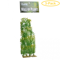 Yup Aquarium Decor Wall of Plants - Yellow & Green 1 Pack - Pack of 3