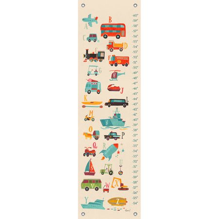Oopsy Daisy - Transportation A to Z Growth Chart 12x42, Irene Chan