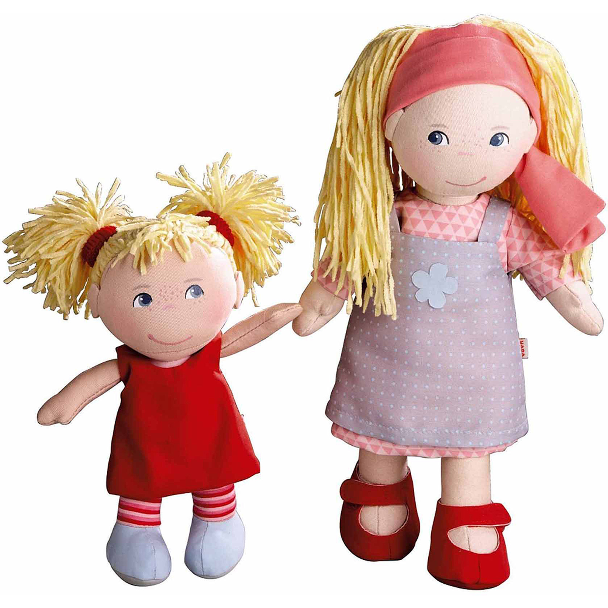 "HABA Doll Sisters, 12"" Lennja and 8"" Elin"