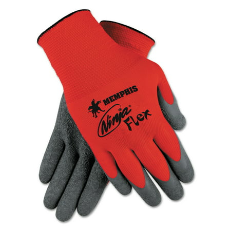 MCR Safety Ninja Flex Latex-Coated Palm Gloves N9680M, Small, Red/Gray, 1 Dozen -CRWN9680S - Mcr Safety Navigator