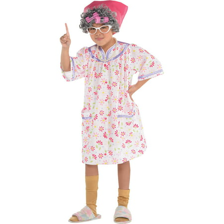 Dress Like Old Lady Halloween (Suit Yourself Little Old Lady Halloween Costume for Girls, Includes)