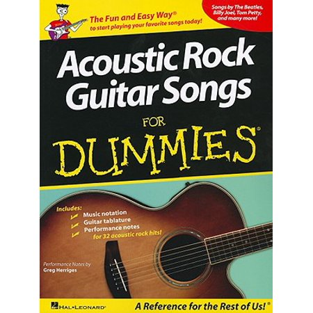 Acoustic Rock Guitar Songs for Dummies (Halloween Songs For Acoustic Guitar)