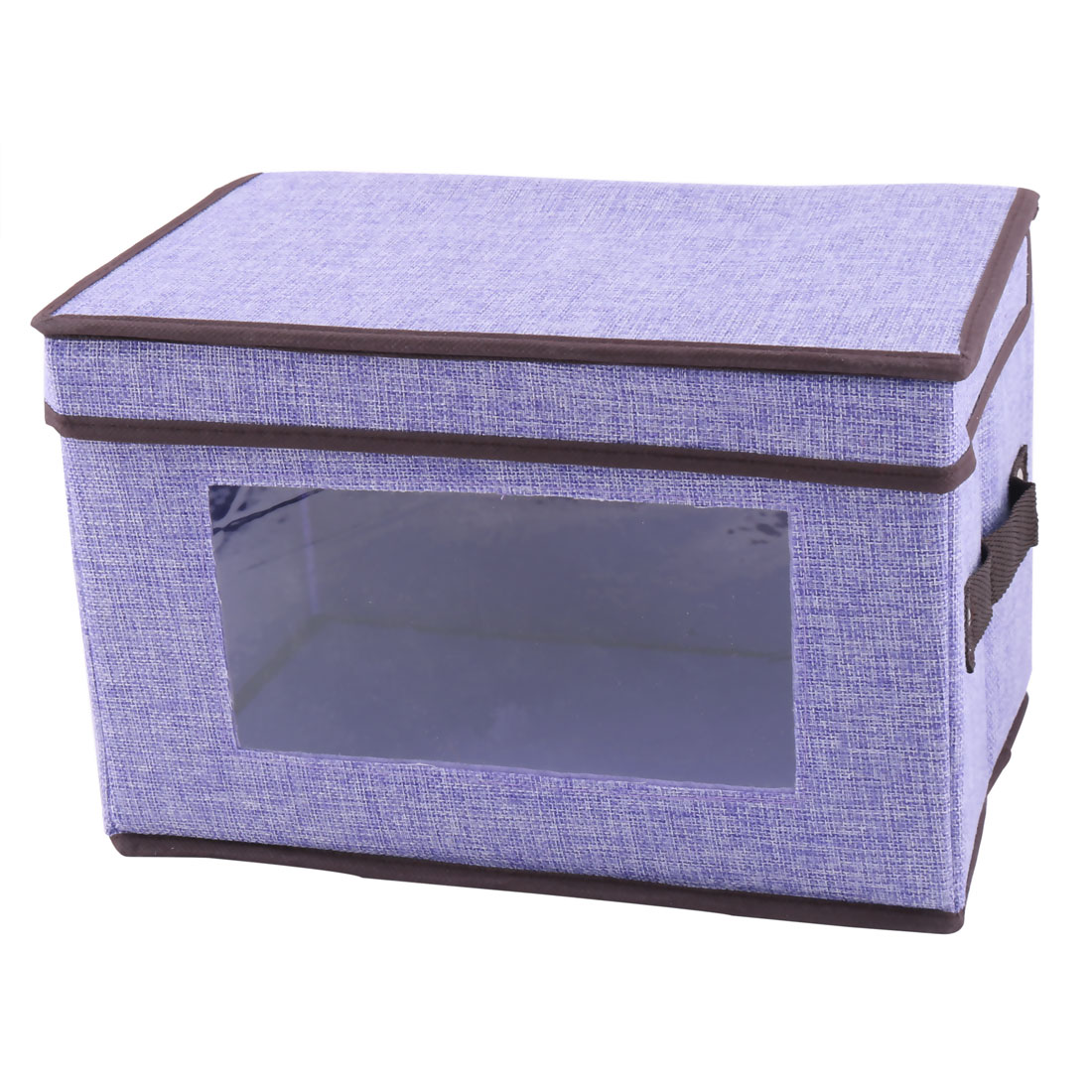 31.5 x 20.5 x 20.5cm Light Purple Linen Foldable Clothes Socks Organizer Box Holder - image 3 of 3