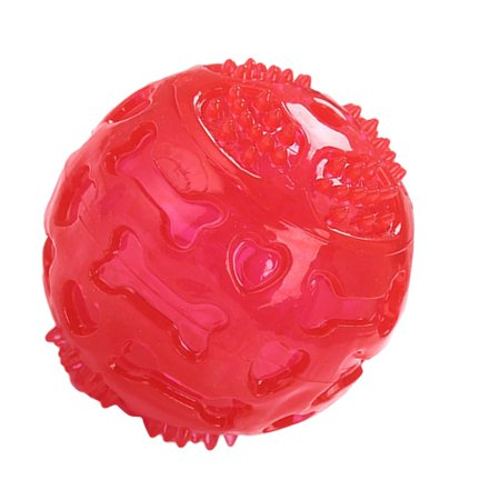 LED Luminous Footprint Ball Dog Molar Interactive Elasticityteeth Bal Dog Toy - image 6 of 8
