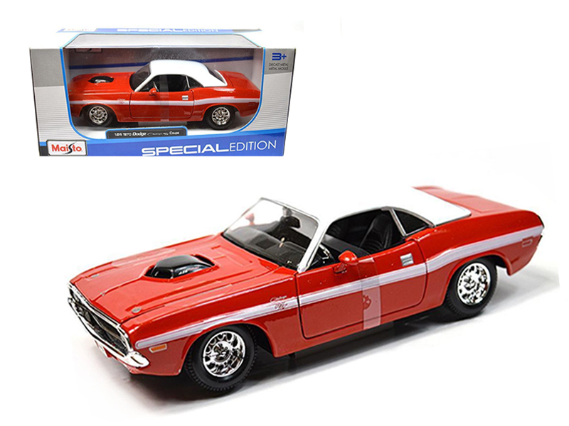 1970 Dodge Challenger R T Coupe Red 1 24 Diecast Model Car by Maisto by Diecast Dropshipper