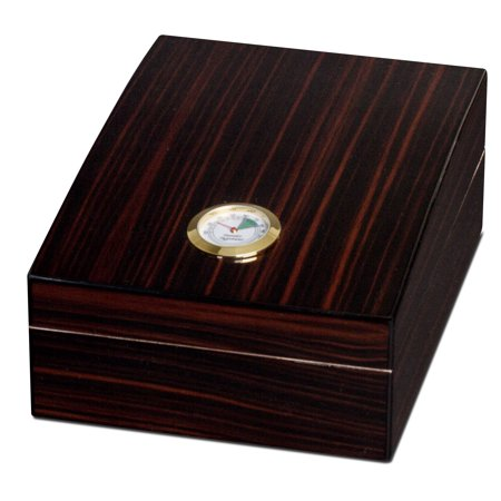 Visol  Golden Ebony Finish 75 Cigar Humidor (Ebony Humidor)
