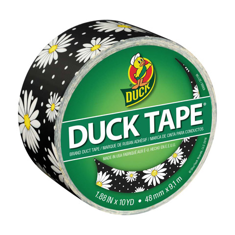 Duck Tape. Crazy Daisy. 1.88 in x 10 yd