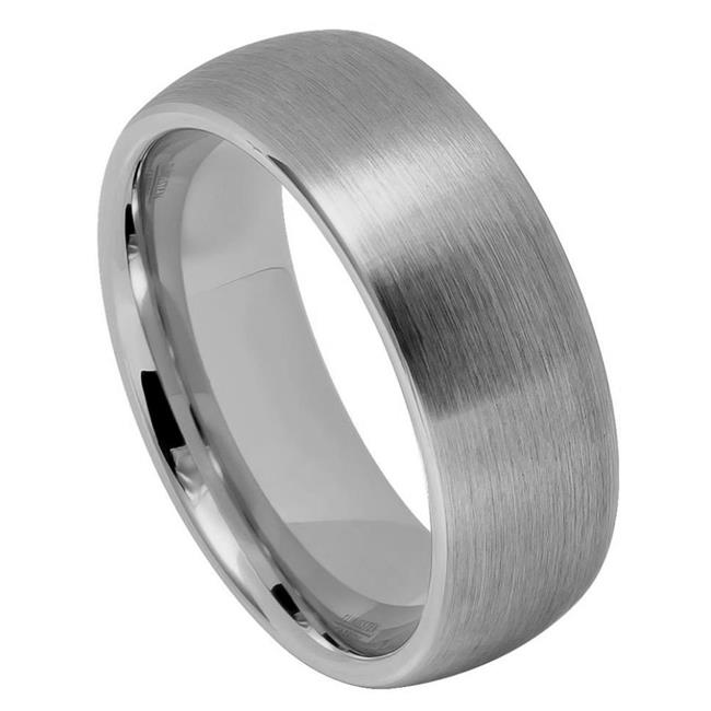 TK Rings 069TR-8mmx14.0 8 mm Brushed Domed Classic Style Tungsten Ring - Size 14 - image 1 de 1
