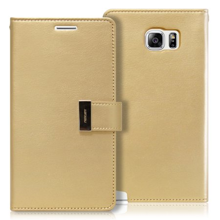 Galaxy NOTE 5 Case, [Drop Protection] GOOSPERY® Rich Diary [Wallet Type] Premium Soft Synthetic Leather Case [ID Credit Card Slots & Cash Compartment] Cover for Samsung Galaxy Note 5