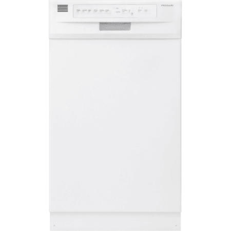 Frigidaire ffbd1821m 18 built in dishwasher with stainless steel interior and d for White dishwasher with stainless steel interior
