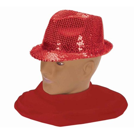 Red Sequin Fedora Hat Costume Accessory