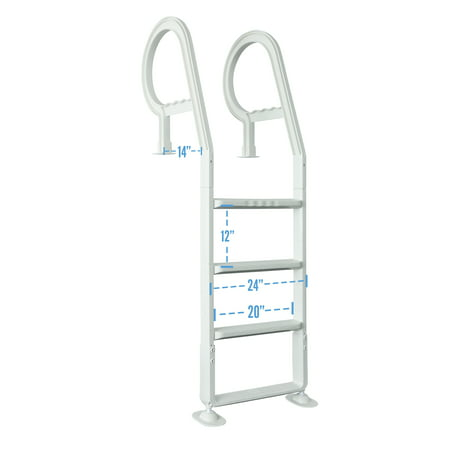Resin Above Ground Pool Ladder (Heavy Duty Resin In-Pool Above Ground Swimming Pool Ladder - White)