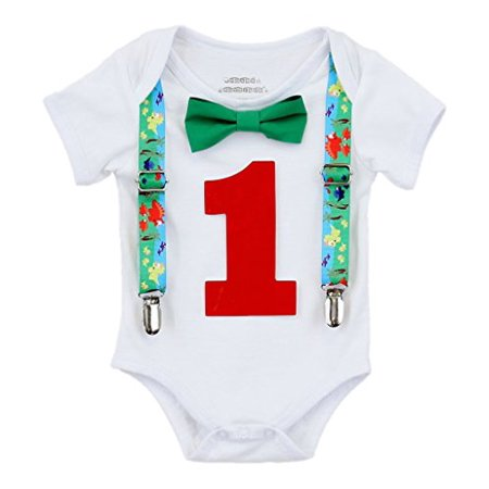 Noah's Boytique Baby Boys First Birthday Dinosaur Party Outfit 12-18 M