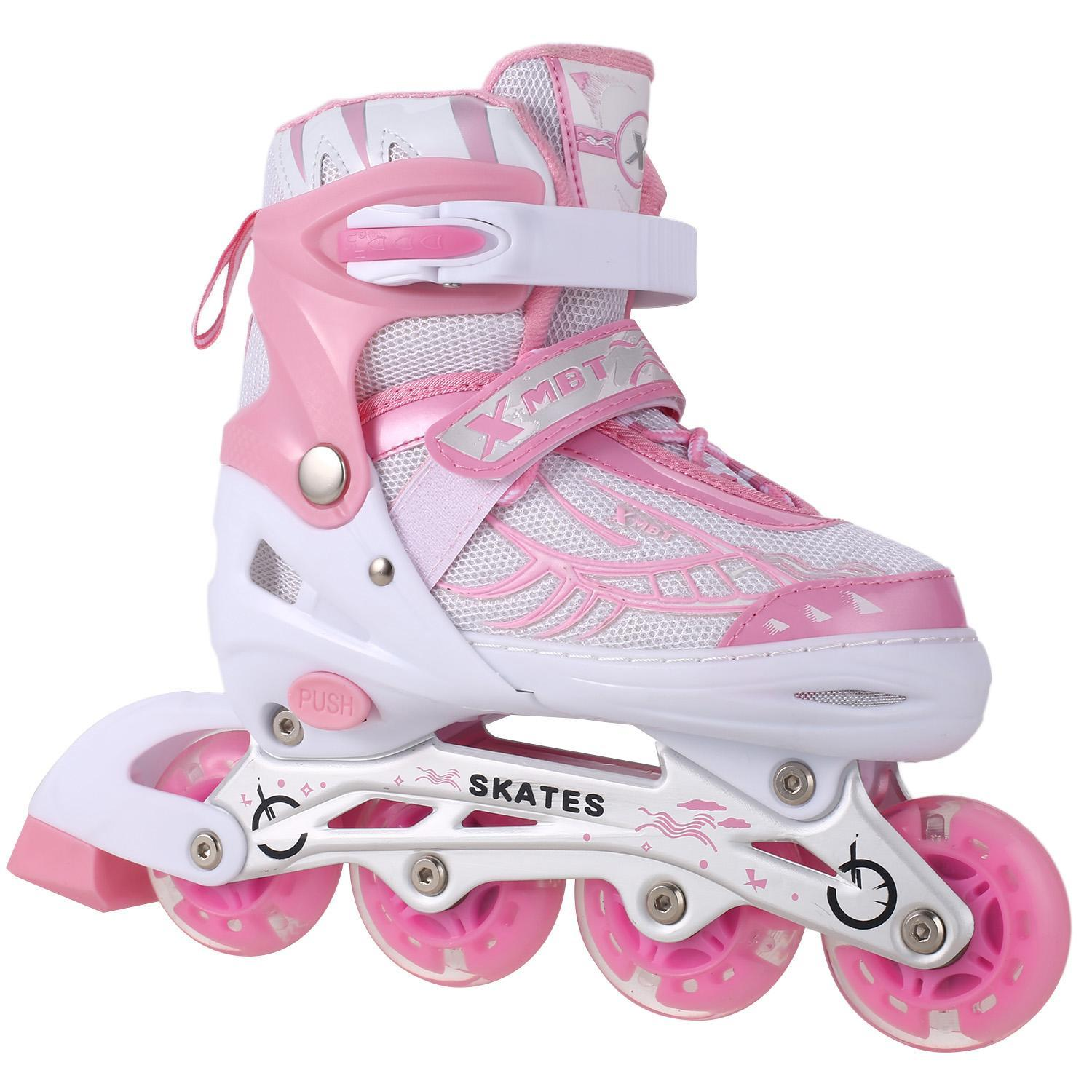 Kid's Ciro Adjustable Kids Inline Skates with Light up Wheels, Stylish Rollerblades for Beginners boys and girls