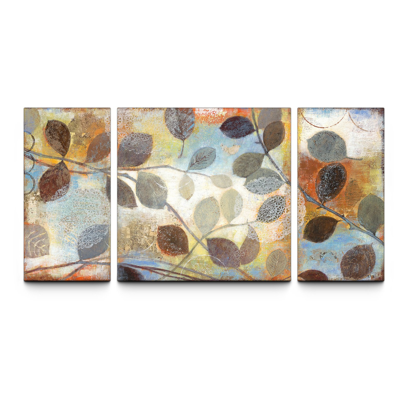 Triptych Wall Art autumn muse 30 x 60 textured canvas art print triptych - walmart