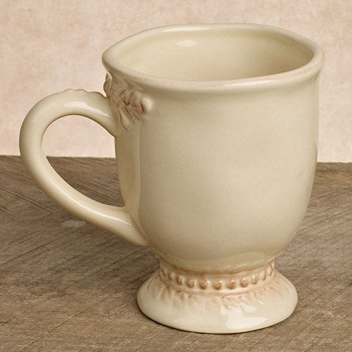 GG Collection  Ceramic Grazia Cups - Cream - Set of 4