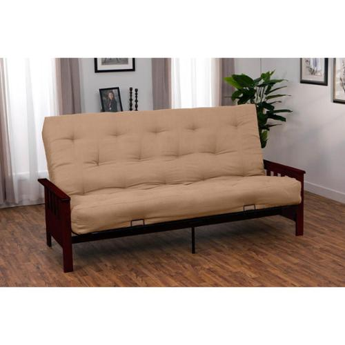 Provo Full-size Mission-style Inner Spring Futon Set Black Frame Finish with Navy Blue Full Futon Mattress