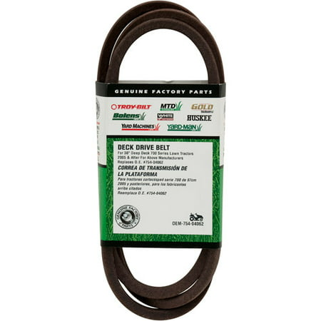 MTD Brands 38 inch Deck Belt 954-04062 Also Fits Murray Units After 2011