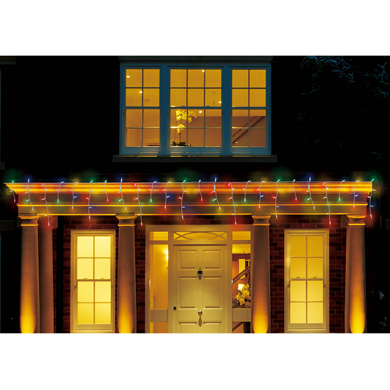 Holiday Time Multi-Color LED Icicle Lights