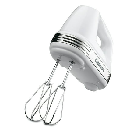 Cuisinart Power Advantage PLUS 5-Speed 220-Watt Hand Mixer, White Kitchen Portable Hand Mixers