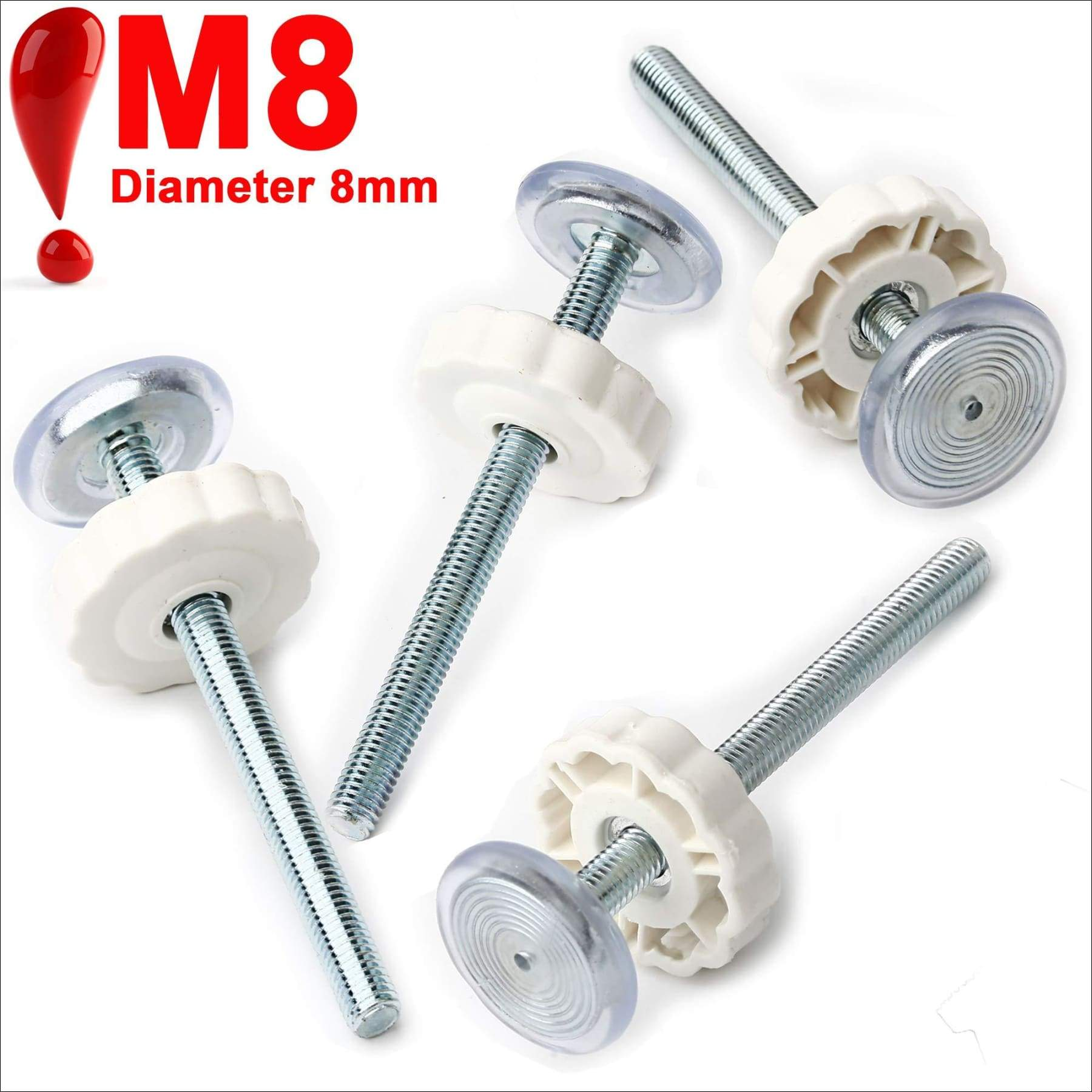 8 mm 4 Pack Pressure Gates Threaded Spindle Rods M8 Baby Gates Accessory