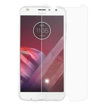 Valor Map - Valor Clear Tempered Glass Screen Protector Film for Motorola Moto Z2 Force/Z2 Play