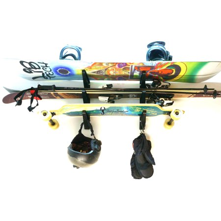 Ski and Snowboard Storage Rack | 3 Tier Wall Storage |