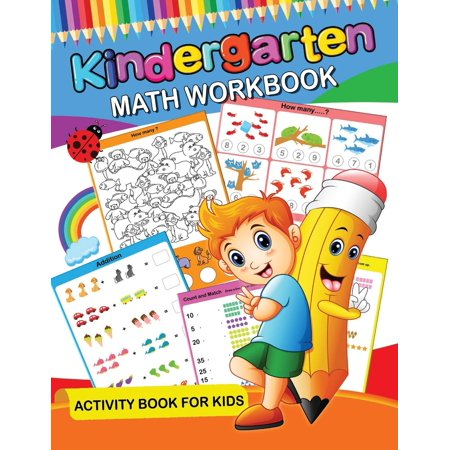 Kindergarten Math Workbook: Easy and Fun Activity Book for Kids and Preschool (Paperback) (Preschool Language Activities For Halloween)