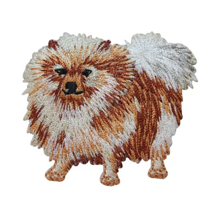 ID 2758 Pomeranian Toy Dog Patch Breed Pet Puppy Embroidered Iron On