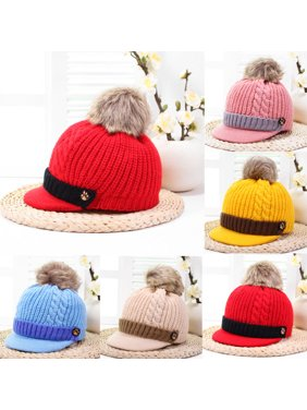 Product Image Cute Baby Boys Girls Kids Winter Warm Hats Scarf and Cap Set  Earflap Beanie Gift. Urkutoba 9535716015ae