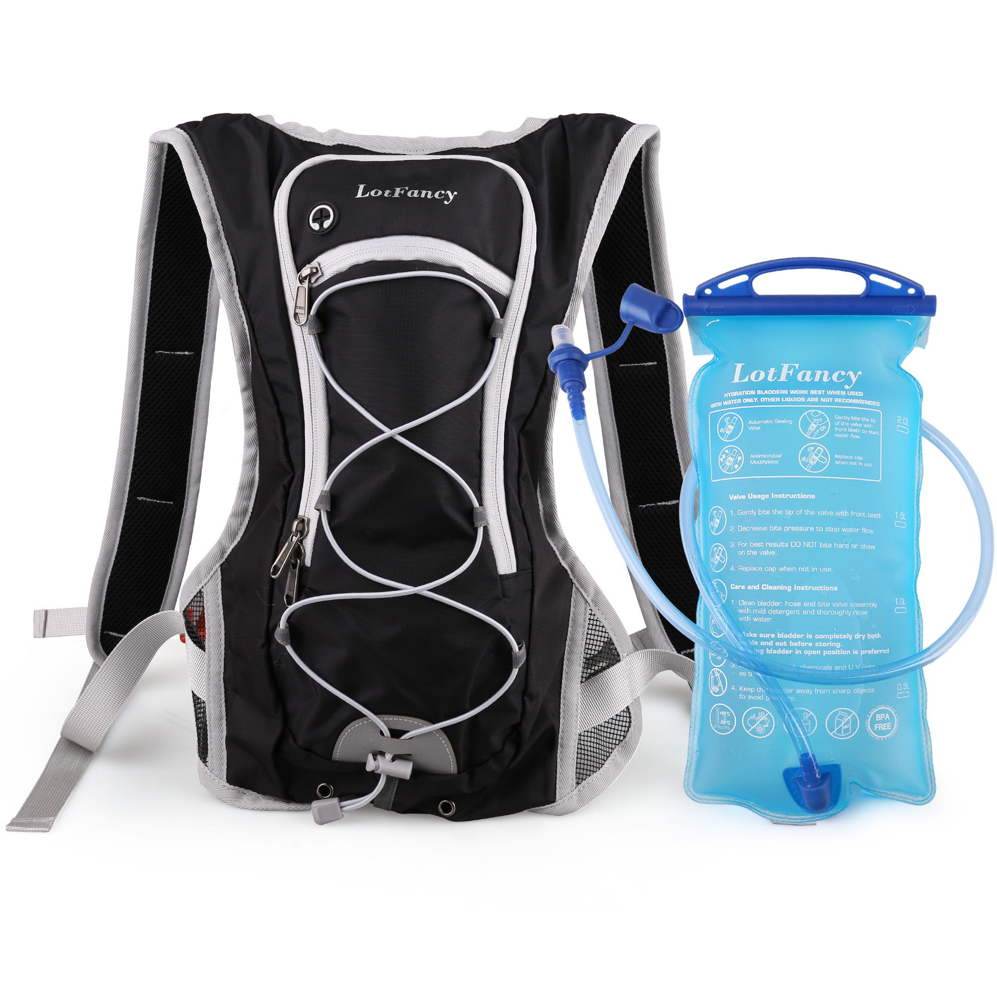 2L Hydration Bladder Bag Drinking Water Pouch Cycling Hiking Camping Sports Pack