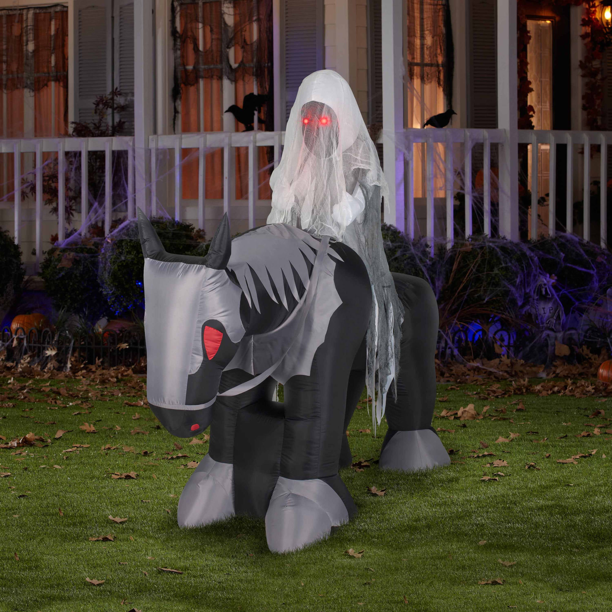 6 airblown inflatables large ghost rider halloween decoration walmartcom