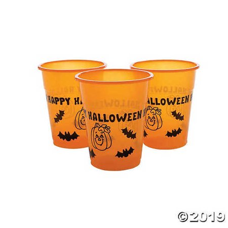 Happy Halloween Plastic Cup - Halloween Capes