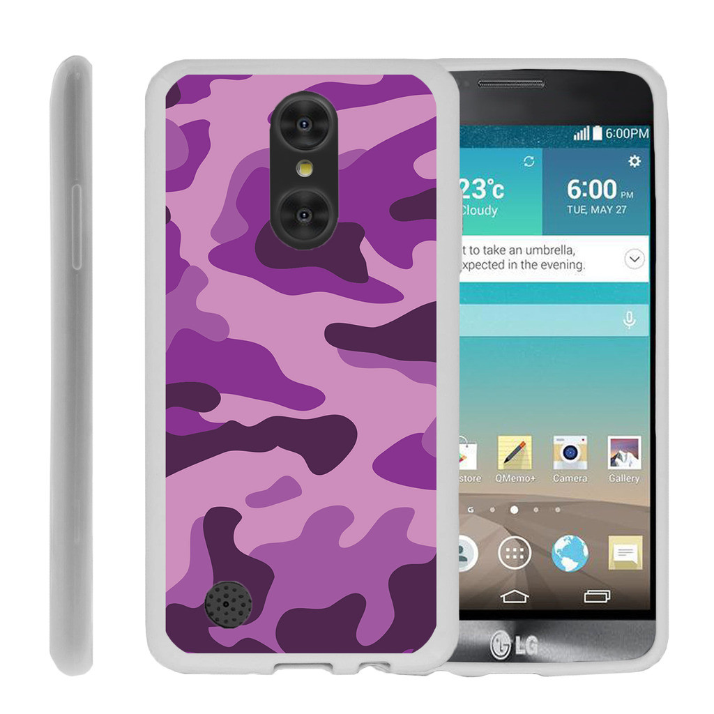 Case for LG Aristo | LG K8 2017 Release Case [ Flex Force ] Lightweight Flexible Phone Case - Purple Camouflage