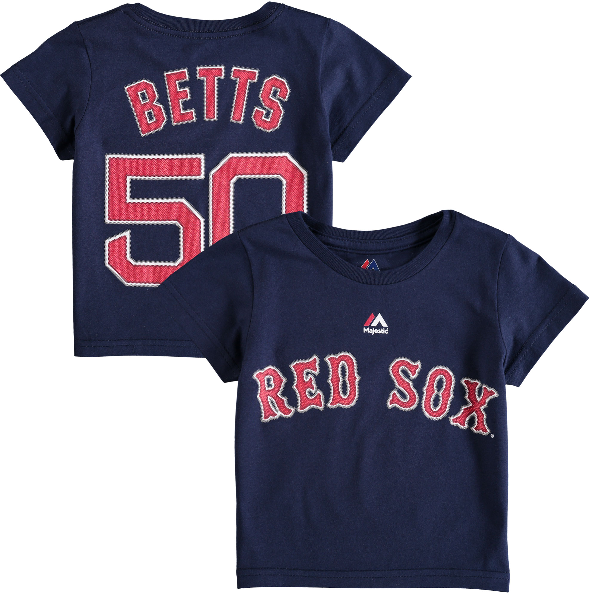 Mookie Betts Boston Red Sox Majestic Toddler Player Name and Number T-Shirt - Navy