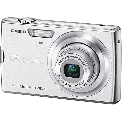 Casio Exilim EX-Z250SR 9MP 4x Zoom 3-Inch LCD Screen Digital Camera with 28mm Wide Angle Lens CCD-shift Image Optical St