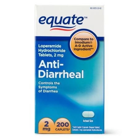 Equate Anti-Diarrheal Loperamide Hydrochloride Caplets, 2 mg, 200 Ct