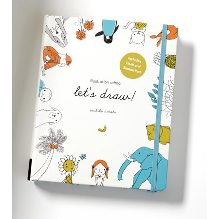 Let's Draw! : A Kit with Guided Book and Sketch Pad for Drawing Happy People, Cute Animals, and Plants and Small Creatures