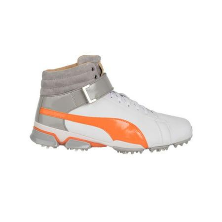 14201071375e51 Puma 2017 Ignite Hi-Top SE Golf Shoes (White Orange) - Walmart.com