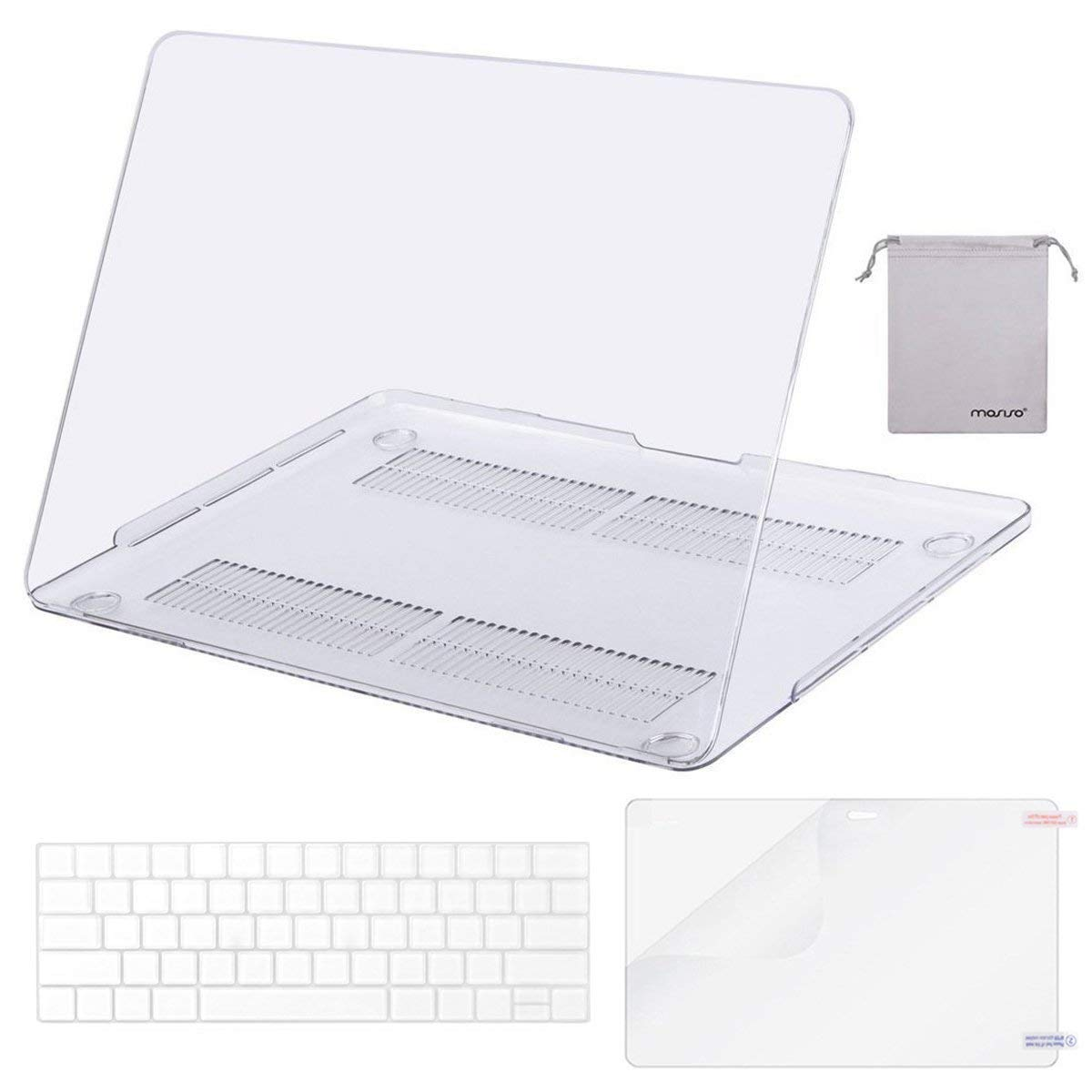 "For 2018-2019 MacBook Air 13/"" Pro 13/"" Touch Clear Hard Shell Case Keyboard Cover"