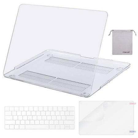 Mosiso MacBook Pro 13 Case 2018 2017 & 2016 Release A1706/A1708/A1989, Plastic Hard Case Shell with Keyboard Cover with Screen Protector with Storage Bag for Newest MacBook Pro 13 Inch, Crystal