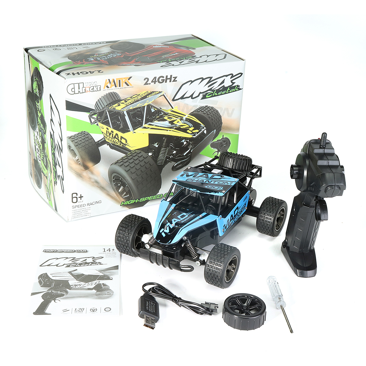 1:20 2.4GHz 4WD High Speed Radio Fast Remote RC toys & Hobbie Control RC Car Off-Road Truck RTR Toy For Children Gift