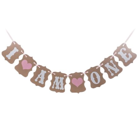 I AM ONE Birthday Party Decoration Photo Prop Banner (I Party Store)