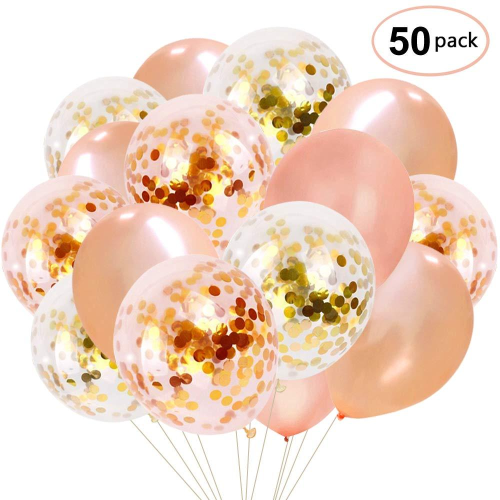 12 Pieces Party Supplies Favor Containers with Rose Gold Dots